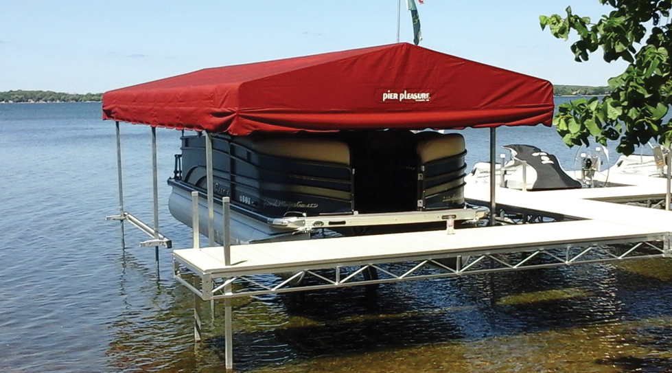 Pier Pleasure Free Standing Canopy Frame At Ease Dock